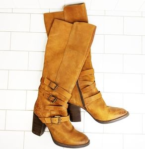 Steve Madden Rustic Belted Tall Boots